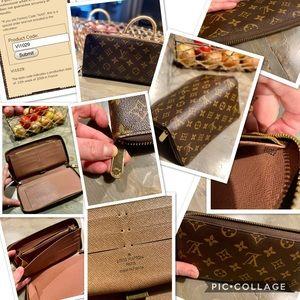 💯% Authentic Louis Vuitton zippy wallet